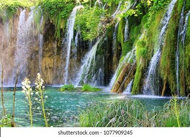 Plitvice lakes national park (Plitvicka Jezera), Lika-Senj, Croatia UNESCO World Heritage Site