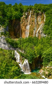 Plitvice Lakes National Park, a UNESCO World Heritage Site in Croatia
