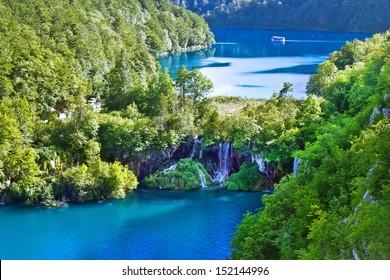 Plitvice Lakes national park waterfall, Plitvica, croatia