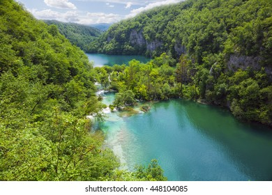 Plitvice lakes park in Croatia.