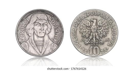 10 PLN, 1968 - Pièce Nicolaus Copernicus