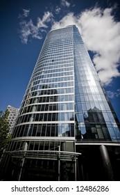 Ploarized filter, modern skyscraper