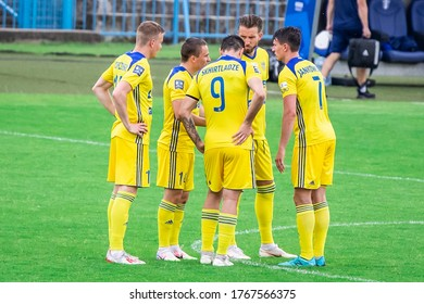PLOCK, POLAND - 20 JUNE, 2020: Players of Arka Gdynia seen during the PKO Ekstraklasa match between Wisla Plock and Arka Gdynia.