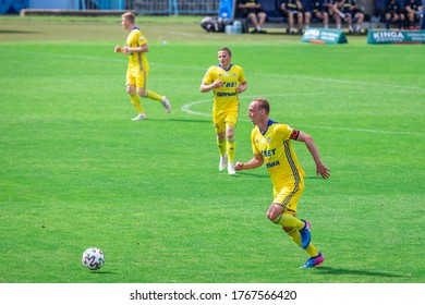 PLOCK, POLAND - 20 JUNE, 2020: Adam Marciniak of Arka Gdynia seen in action during the PKO Ekstraklasa match between Wisla Plock and Arka Gdynia.