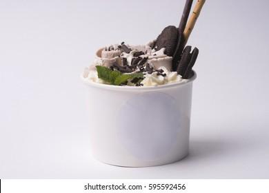plombir, ice cream, ice roll