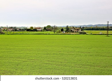 The plot of agricultural land with buildings in Europe
