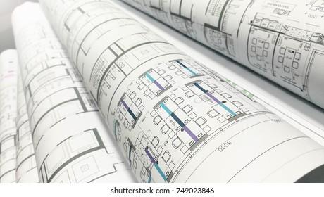 plot plan drawing roll paper