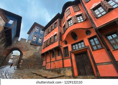 PLOVDIV, BULGARIA - Hisar Kapia - Ancient Gate in Plovdiv old town, Bulgaria