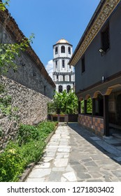 PLOVDIV, BULGARIA - JULY 5, 2018:   St. Constantine and St. Elena church from the period of Bulgarian Revival in old town of Plovdiv, Bulgaria