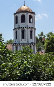 PLOVDIV, BULGARIA - JULY 5, 2018:   Medieval St. Constantine and St. Elena church in old town of Plovdiv, Bulgaria