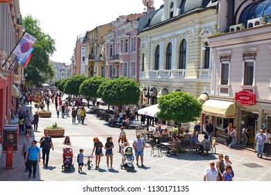PLOVDIV, BULGARIA - May 2018 - Center of Plovdiv will be the host of the European Capital of Culture in 2019. With Neolithic settlement is one of the world's oldest cities.