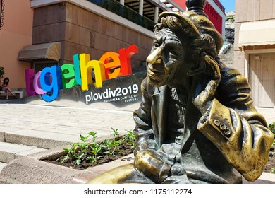 PLOVDIV, BULGARIA - May 2018 - Center of Plovdiv, Bulgaria. Plovdiv will be the European Capital of Culture in 2019.