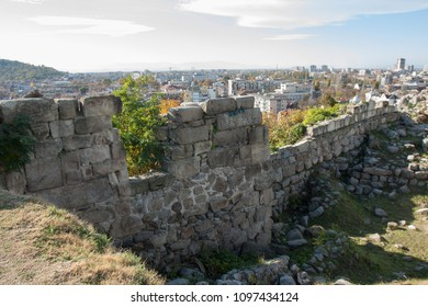 PLOVDIV, BULGARIA - NOVEMBER 09, 2015: Ruins of ancient town Phi