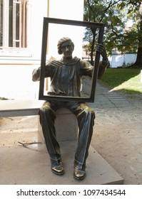 PLOVDIV, BULGARIA - NOVEMBER 09, 2015: Monument to Bulgarian pai