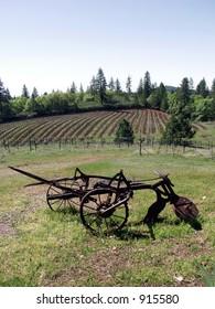 plow at the vineyard