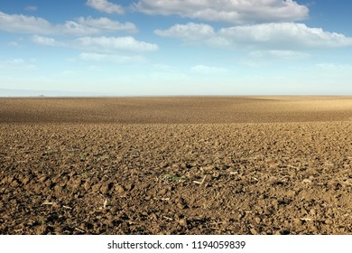 plowed field agriculture landscape sunny autumn day