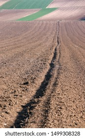 Plowed field  agriculture Voivodina Serbia