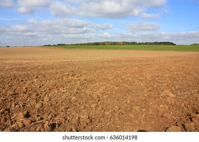 Plowed land in french countryside, Aisne, Picardie in north of France