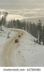 Plowing Teton Pass Wyoming