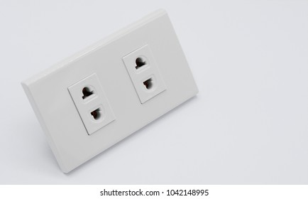 plug socket isolated on white background