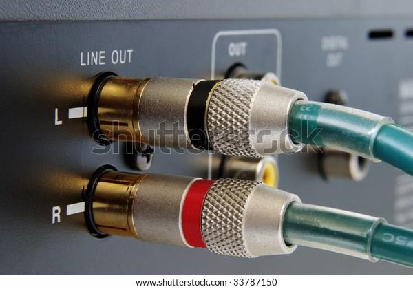 pluged hi-end gold connectors