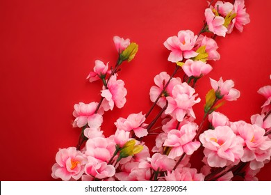 Plum flowers with Red Packet for chinese new year