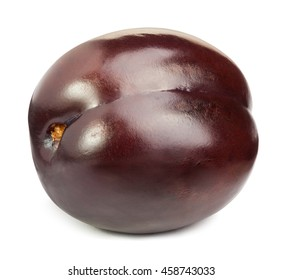 Plum isolated on white with clipping path