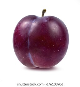 plum on a white background