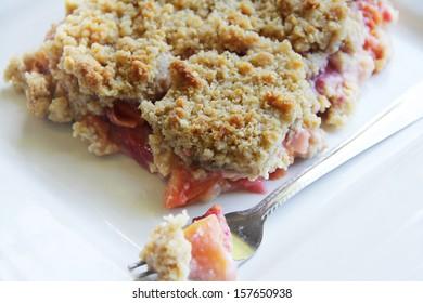 Plum and peach crisp