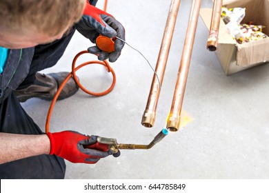 Plumber brazed copper tubes