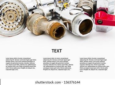 Plumbing. Space for text isolated on white background
