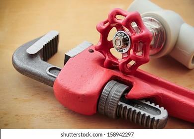 Plumbing work tools.