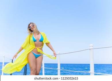 Plus size american sweet woman at nature, enjoy the life, walk at beach. Life of people xl size, happy nice natural beauty woman