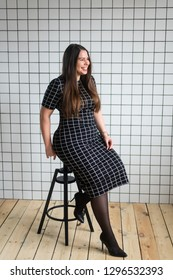 Plus size woman, curvy model, voluptuous silhouette and body, curvy hips. Plump girl, voluptuous, hourglass figure.