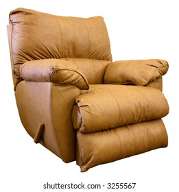 Plush Saddle Brown Rocker Recliner Chair