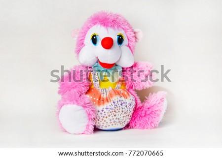 Plush Stuffed Pink Hedgehog On White Stock Photo Edit Now