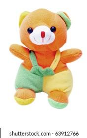 A plush Teddy Bear isolated on white