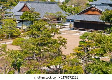 Plus-type name former imperial villa Nijo-jo Castle (Motorikyu-Njo-jo) is a castle built in the Edo era in authority of Nijo,  Nakagyo-ku, Kyoto-shi Horikawa Nishiiri Nijojocho of Japan Nijo-jo Castle