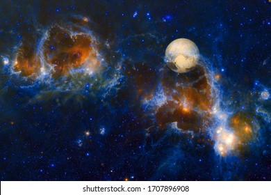 Pluto. Awesome quality planets of solar system. Elements of this image furnished by NASA
