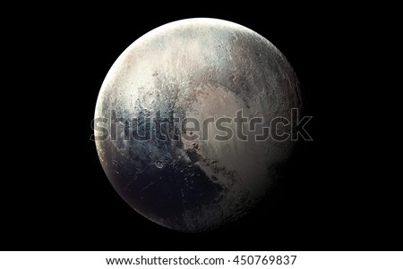 Pluto High resolution 3D