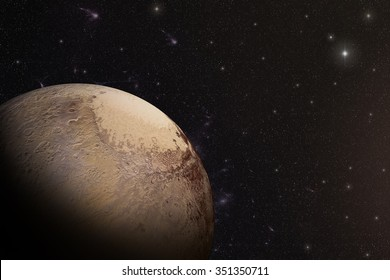 The Pluto shot from space showing all they beauty. Extremely detailed image Elements of this image furnished by NASA