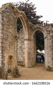 Pluvigner, France, August 6, 2019: Remains of the Chapel of the Notre-Dame des Orties from the 15th century. Pluvigner, Brittany