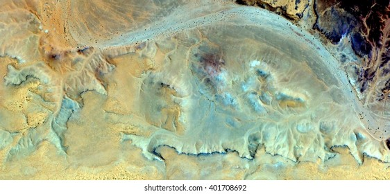 Plying the river turquoise sulfur yellow sands abstract photography of the deserts of Africa from the air, bird's eye view, abstract expressionism, contemporary art, optical illusions,