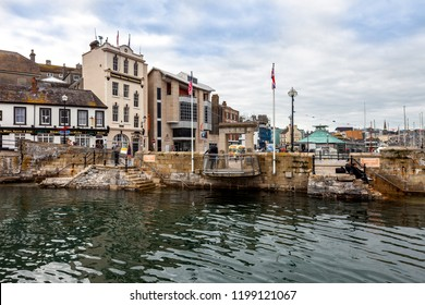 Plymouth, England - April 17, 2011: The Mayflower Steps in Plymouth where the Pilgrams left England on the Mayflower in their quest for religious freedom in 1620.