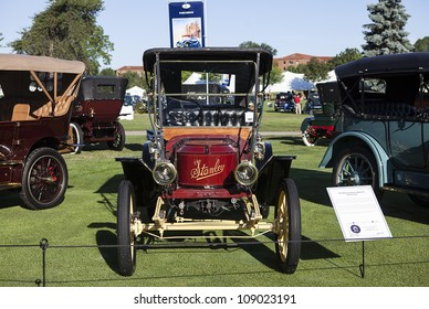PLYMOUTH - JULY 29 : A 1910 Stanley Steamer Model 61 on display at the Concours D'Elegance  July 29, 2012 in Plymouth, Michigan.