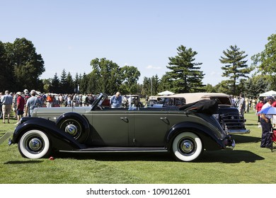 PLYMOUTH - JULY 29 : A 1937 Lincoln Model K on display at the Concours D'Elegance  July 29, 2012 in Plymouth, Michigan.