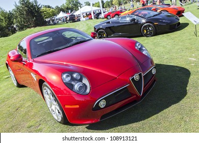 PLYMOUTH - JULY 29 : An Alfa Romeo super car on display at the Concours D'Elegance  July 29, 2012 in Plymouth, Michigan.