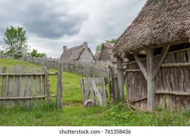 PLYMOUTH, MA, USA - JUNE 20: Plimoth Plantation on June 20, 2010 in Plymouth. This open air museum replicates the original settlement at Plymouth Colony where the first Thanksgiving may have been held