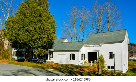 Plymouth Notch, VT/USA - Oct. 25, 2014: Calvin Coolidge (30th US president) homestead, Plymouth Notch, Vermont.