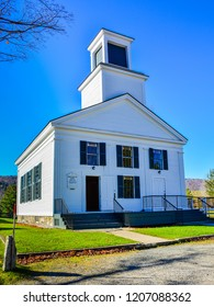 Plymouth Notch, VT/USA - Oct. 25, 2014: Church attended by the young Calvin Coolidge (who became the 30th US president), Plymouth Notch, Vermont.